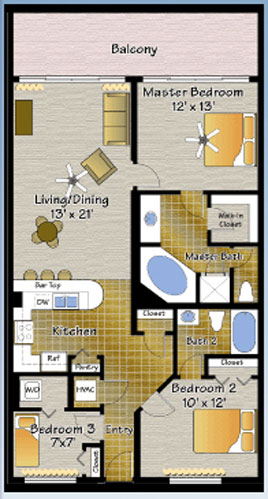 Majestic Beach Resort Two Bedroom Condos
